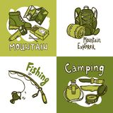 Camping Design Concept Royalty Free Stock Image
