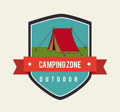 Camping design Royalty Free Stock Photography