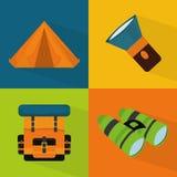 Camping design. Stock Photos