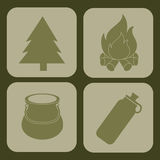 Camping design Stock Photography