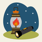 Camping design Royalty Free Stock Images