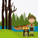 Camping design. Royalty Free Stock Photography