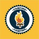 Camping design Stock Image