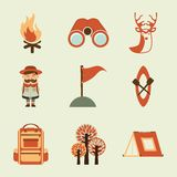 Camping design Royalty Free Stock Image