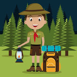 Camping design, vector illustration. Royalty Free Stock Images