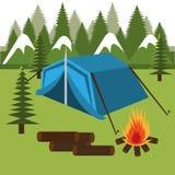 Camping design, vector illustration. Stock Photos