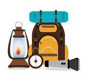 Camping design, vector illustration. Royalty Free Stock Photos