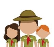 Camping design, vector illustration. Stock Image