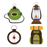 Camping design, vector illustration. Camping design over white background, vector illustration Stock Images