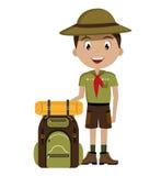Camping design, vector illustration. Royalty Free Stock Photo