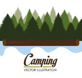 Camping design, vector illustration. Royalty Free Stock Image