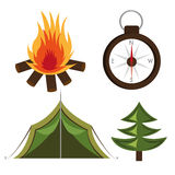 Camping design, vector illustration. Royalty Free Stock Photo