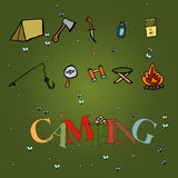 Camping - doodles collection Royalty Free Stock Images
