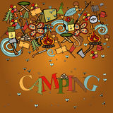 Camping - doodles collection Stock Photography