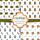 Camping - doodles collection. Big doodle set - Royalty Free Stock Photo