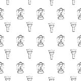 Camping - doodles collection. hand drawn camping seamless pattern Stock Photo