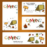 Camping - doodles collection.Vector banner templates set with doodles camping theme Royalty Free Stock Photo