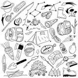 Camping - doodles Stock Photos