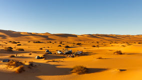 Camping in the Dunes, Awbari Sand Sea, Sahara Stock Photography