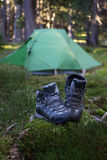 Camping elements Stock Image