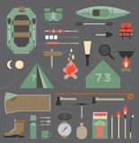 Camping elements. Isolated vector elements for travel and camping infographics Stock Photo