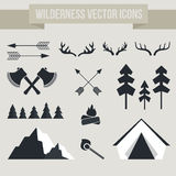 Camping Elements. Vector camping elements. Outdoor activity symbols Stock Photo
