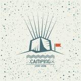 Camping emblem Royalty Free Stock Image