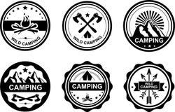 Camping emblem Royalty Free Stock Photo