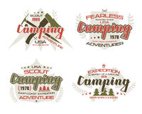 Camping emblems  for t-shirt Royalty Free Stock Photos
