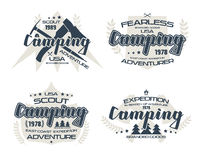 Camping emblems  for t-shirt Royalty Free Stock Photography