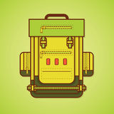 Camping equipment. Backpack. Stock Photography