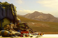 Camping equipment Stock Images