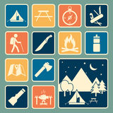 Camping equipment icon. Set of camping equipment icon royalty free illustration