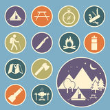Camping equipment icon. Set of camping equipment icon stock illustration