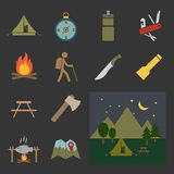 Camping equipment icon Royalty Free Stock Photos