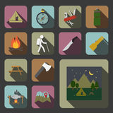 Camping equipment icon Royalty Free Stock Photography