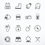 Camping Equipment icon Stock Photos