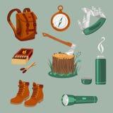 Camping equipment Stock Photo