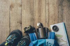 Camping Equipment Set royalty free stock photo
