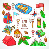 Camping equipments Royalty Free Stock Image