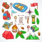 Camping equipments Royalty Free Stock Image