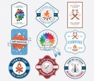 Camping extérieur coloré Photos libres de droits
