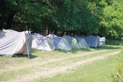 Camping extrême Photographie stock libre de droits