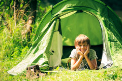 Camping Family Having Fun Outdoors Royalty Free Stock Image