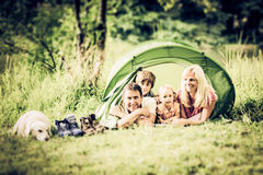 Camping Family royalty free stock image