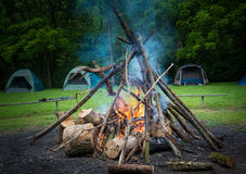 Camping Fire Royalty Free Stock Image