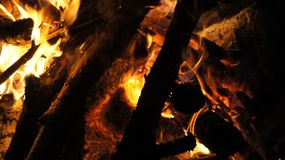 Camping And Fire Royalty Free Stock Images
