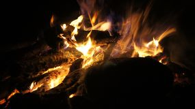 Camping And Fire Stock Photography