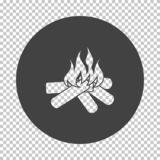 Camping fire  icon. Subtract stencil design on tranparency grid. Vector illustration vector illustration