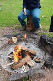 Camping fire Royalty Free Stock Photography